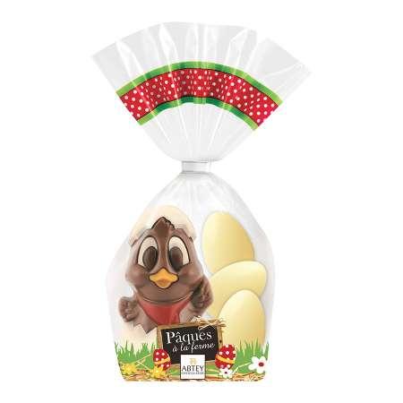 moulage Chick le Poussin et ses 3 oeufs blancs