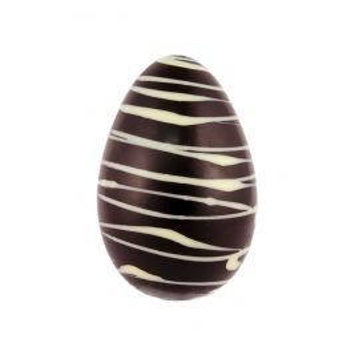 Oeuf strié au chocolat noir