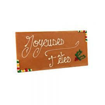 Tablette Caramel Joyeuses Fêtes