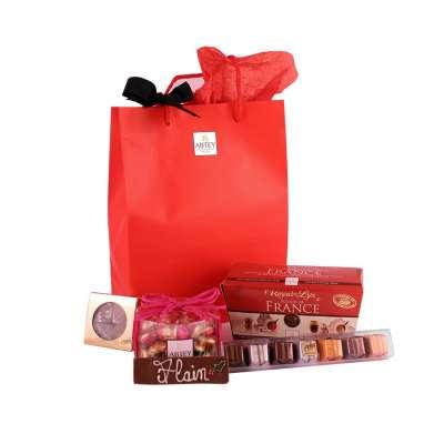 Sac Cadeau Chocolat Liqueur Pralinés à personnaliser