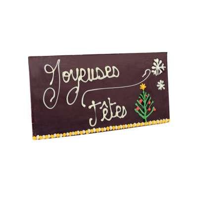 Tablette Chocolat noir Joyeuses Fêtes