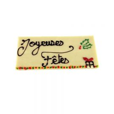 Tablette Chocolat Blanc Joyeuses Fêtes