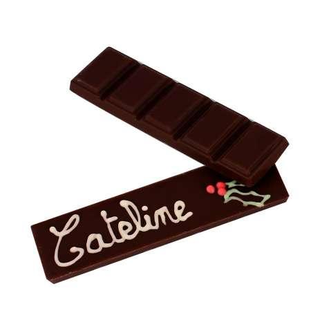 Barre chocolat noir à personnaliser
