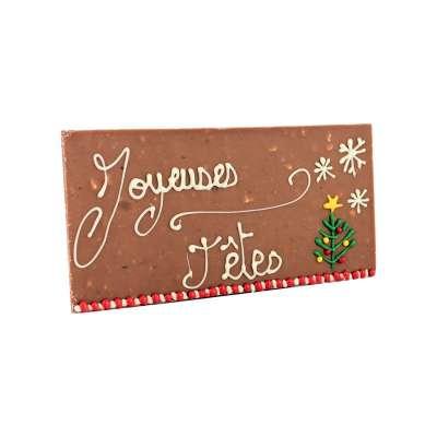 Tablette Chocolat Noisette Joyeuses Fêtes