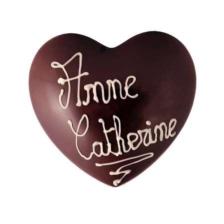 Coeur Chocolat Noir à personnaliser