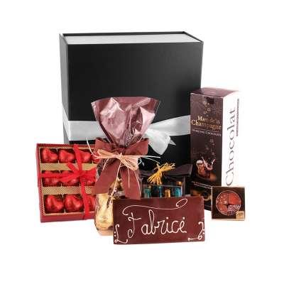 Coffret Cadeau Chocolat Liqueur Pralinés à personnaliser