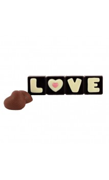 Tablette LOVE Choc. Noir