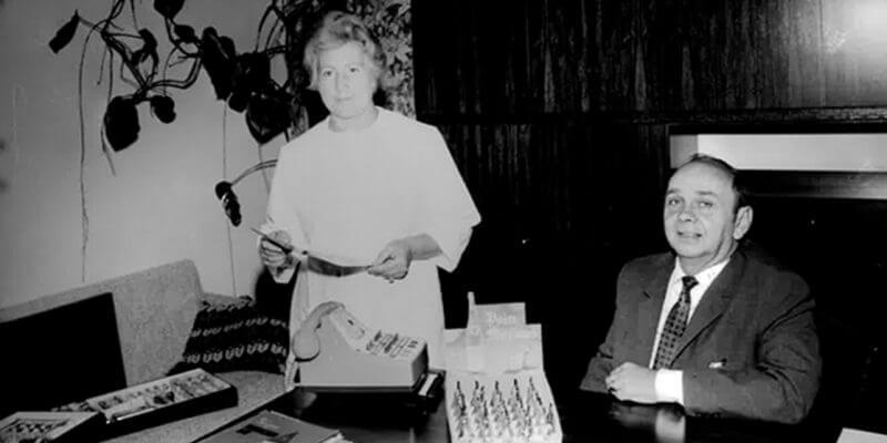 Amélie Abtey et son mari à la Chocolaterie