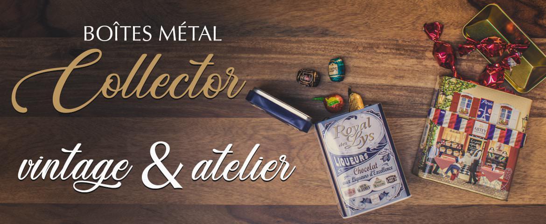 boites en métal collector