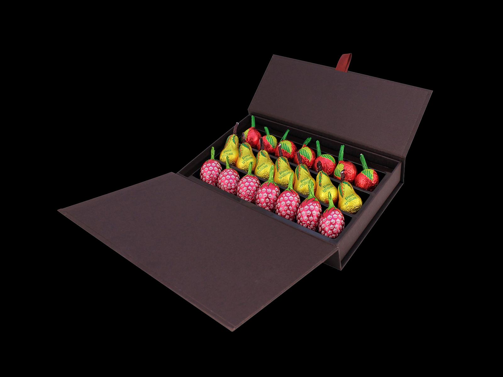 Boîte rouge Liqueurs de fruits