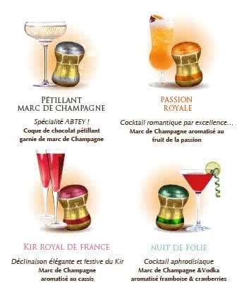 Bouchons chocolat boite royal des lys alcools de fetes